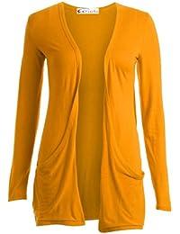 c879ef7c27 Crazy Girls Ladies Long Sleeve Plain Printed Pocket Boyfriend Cardigan  Womens Top Sizes…
