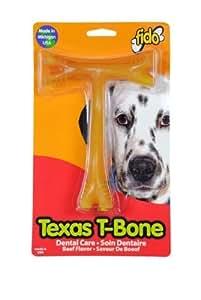 "Fido Texas T-Bone Dental Dog Bone, Beef Flavored, Large 6-1/2"" by Fido (English Manual)"