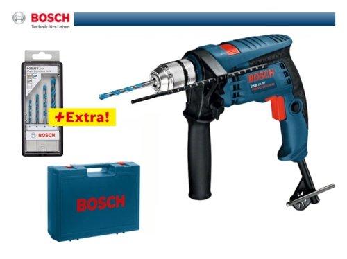 Bosch Professional GSB 13 RE Elektro Schlagbohrmaschine 600 W im Koffer + 4er-Set Multiconstruction Bosch Professional