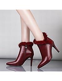ANI la Estación Europea Cuenta con Zapatos Auténticos, Botas de Mujer, Botas Finas con Botas Puntiagudas, Botas...