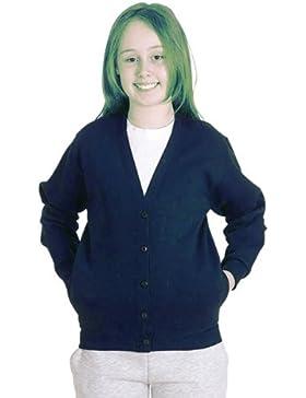 Niñas chaqueta uniforme escolar niños Premium Jersey sudadera edad 2A 13
