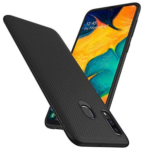 FGXG Hülle Kompatibel mit Samsung Galaxy A30/A20 Handyhülle.Silikon Schutzhülle, Ultra Thin Tasche Cover,stoßfeste TPU Schutzhülle, ultradünne & langlebige Hülle(schwarz)