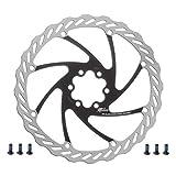 Miles Racing Fahrrad Bremsscheibe - Stahl rostfrei - 2-farbig - 180 mm