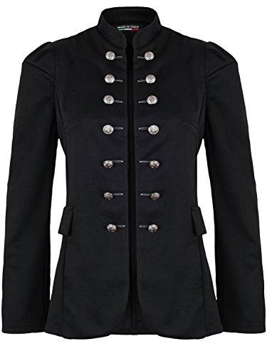 Damen Blazer Militäry Style ( 513 ), Farbe:Schwarz, Blazer 1:40 / L