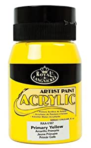 Royal & Langnickel RAA-5107 Essentials 500ml Acrylic Paint - Primary Yellow