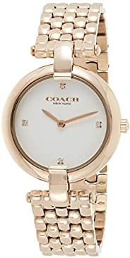 Coach Women's White Dial Ionic Plated Carnation Gold Steel Watch - 1450
