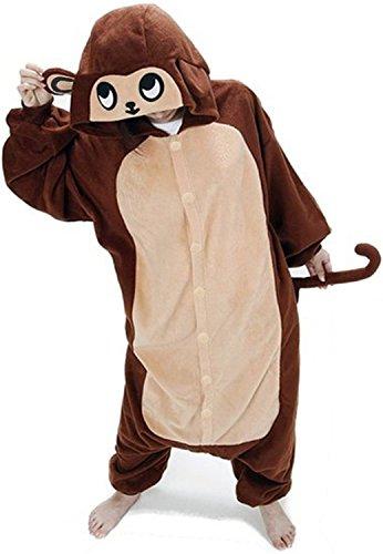 Très chic mailanda unisex da adulto costume intera pigiama cosplay animale pigiama costume di halloween(scimmia)