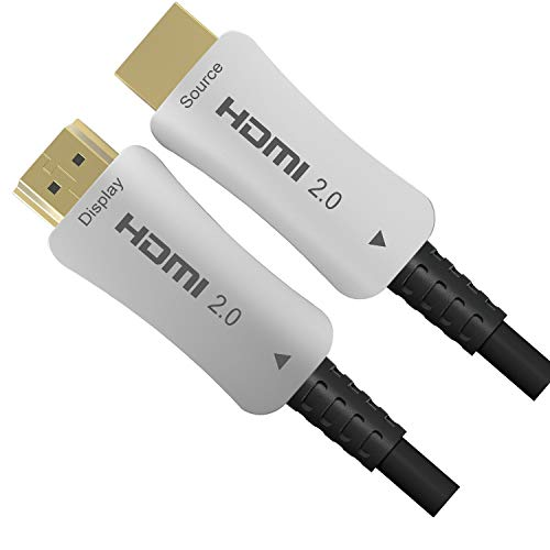 20 M Fiber Optic HDMI HDMI Glasfaser Kabel 4k HDMI Kabel unterstützt 4K 60Hz, 3D, HDR, HDCP 2.2, High Speed HDMI Kabel mit Ethernet unterstützt für Beamer, PS4, PS4 Pro, PC, Xbox One usw, 20m Fiber Optic Hdmi Kabel