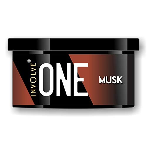 Involve® ONE Musk Organic Car Perfume   Involve Your Senses Strong Fiber Air Freshener to Freshen'up Your Car - IONE01