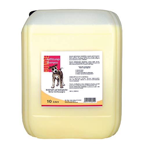 FellOn Entfilzungs Shampoo für Hunde | 10 Liter | Hundeshampoo | Biologisches Shampoo | Löst verfilzungen sanft und schonend | Milde Waschsubstanzen | Pflegend & Rückfettend | Ph-neutral -