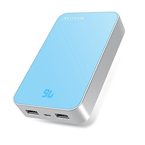 KAYO MAXTAR Power Pack Power Bank 13000mAh High Capacity Portable Charger Dual ports USB Battery Pack 5V 2.1A Backup Battery Fast Charging External Battery Charger For Cell Phone Mobile Phone Apple iPhone 6 Plus 6 5S 5C Iphone 5 IPad Ipod Tablet PC Mobile Smart Phone Motorola Moto X G Samsung Galaxy S6 S5 S4 S3 S2 HTC One One 2 (M8) Nokia LG Android Car DVR PSP PDA Video Game Machine Mp3 Mp4 Camera Bluetooth Speakers headphones Wireless Device and Most USB Digital Devices-Color Blue(S16)