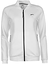 Slazenger Femmes Baseline Tennis Veste De Survêtement Top Haut Sport Running