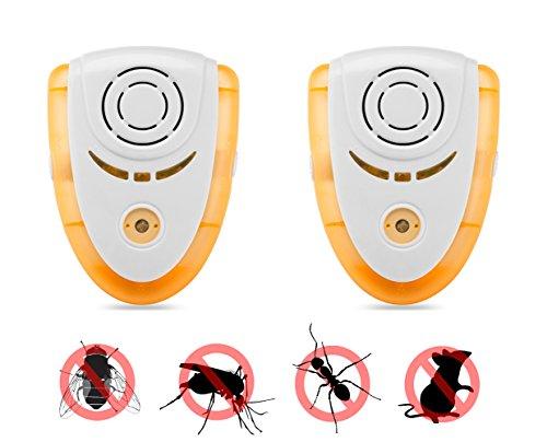 Erasky Repelente Ultrasónico de Plagas Control de Antiplagas Avanzado Profesional de control de Plagas para Roedores, Cucaracha, Ratas, Hormigas, Arañas,Mosquitos y Hormigas