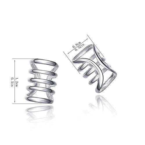 Zjuki Ohrringe 925 Silber hohl ohrstulpe Clip auf Ohrringe modeschmuck kein Piercing für männer Frauen schmuck mädchen zubehör einzigartige Partei (Clip Opal Ohrringe Auf)