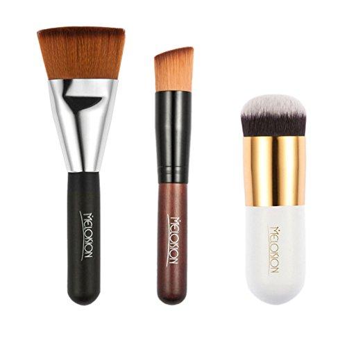 Baoblaze 3x Pinceaux de Maquillage Brosse Cosmétique Doux Multifonctionnel à Poudre, Liquide, Crème