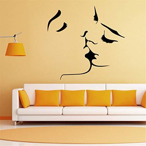 Anmain san valentino adesivo da pareti semplice stickers muro coppia adesivi murali moda wall stickers creativi soggiorno decorazioni muraglia sfondo tv murales da parete
