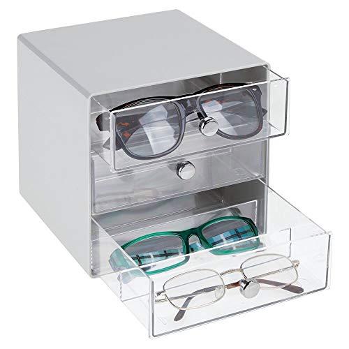 MetroDecor mDesign Cajas para Gafas de Sol – Cajoneras de plástico con...