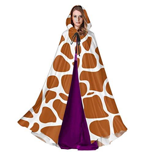 Rtosd Seamless Pattern Giraffe Skin Texture Womans Kapuzenmantel Hood Cloak Men 59inch Für Weihnachten Halloween Cosplay (Womens Giraffe Kostüm)