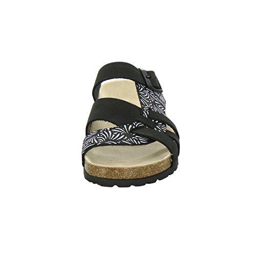 AFS-Schuhe 2122, Modische Damen-Pantoletten, bequeme Hausschuhe Schwarz