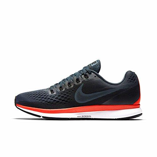 Nike Herren Air Zoom Pegasus 34 Fitnessschuhe, Mehrfarbig (Blue Fox/Black-Bright Crimson 403), 44 EU