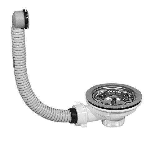MKK - 10956-002 - Ablauf Ablaufgarnitur Waschbecken Ventil Ablaufventil Überlaufschutz Abfluss 2. runde Überlauföffnung