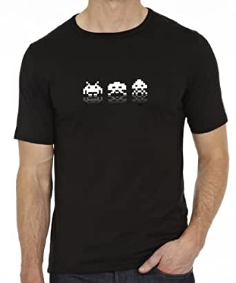 Next Weeks Washing Men's Space Invaders T-Shirt Black Small