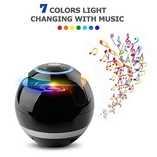 Ydq Bluetooth Lautsprecher,3Watt, Portabel, Bluetooth 2.1, HiFi Stereo Sound, 360° LED-Lichtshow, Kabellos, Bluetooth, 3,5 Mm Aux-Eingang, Mikro-SD Oder USB
