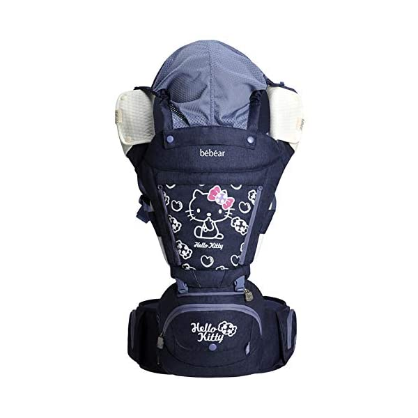 """FIFY baby carriers Waist stool baby sling multi-function four seasons universal seat baby sling front cuddling holding baby artifact front hug newborn newborn child night blue, A FIFY Offer three carrier method: outward-facing, inward-facing and back carrying; product care: machine wash, warm (40 degrees). wash separately with a gentle, bleach-free detergent Age: from 3 months-14 months (at least 3.6 kg -9.1 kg) COMFORTABLE & ERGONOMIC AS BABY GROWS: Easy to adjust bucket seat supports your baby in an ergonomic natural """"M"""" position in all carry positions from baby to toddler. 1"""