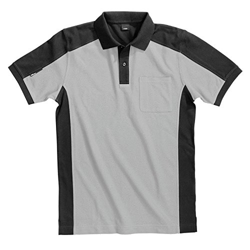 FHB Polo-Shirt, Konrad, Größe XL, weiß / anthrazit, 91490-1012-XL grau