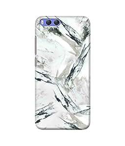 Be Awara White Grey Marble Printed Back Case Cover for Xiaomi Mi 6