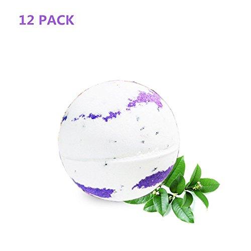 12 Bad Bomben (JUKUB 12 Pack Lavendel-Bad-Bomben Geschenk-Set Bio-und Naturbad-Bombe-Kit Perfekt Für Bubble & Spa-Bad Geschenke Für Frauen Mama Mädchen Teenager Kinder, 12 * 70G)