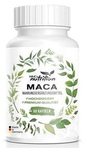 Maca Kapseln hochdosiert | 1000 mg reines Maca pro Tagesdosis mit wichtigen Vitalstoffen | Aus der Maca Wurzel Hergestellt | Für Frauen und Männer geeignet | NNC Nutrition (60 Kapseln) - Natürliche Immunsystem Booster