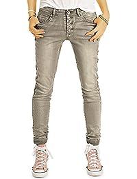 Bestyledberlin Damen Boyfriend Style Jeans, Acid Wash Jeanshosen, Used-Look Baggy Hosen j29k