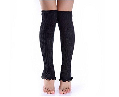 Fletion Women Ladies Boots Socks Winter Warm Leg Warmers Knee socks Knit Wool Crochet Leg Warmers Legging Test