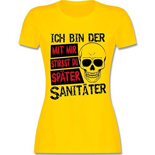 Armee Sanitäter Kostüm - Sonstige Berufe - Mit Mir stirbst du später Sanitäter - schwarz - S - Gelb - L191 - Damen Tshirt und Frauen T-Shirt