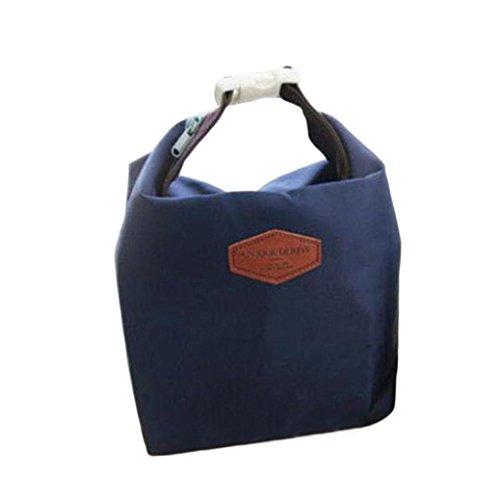 ortable Isolierte Lunch Tasche Kühltasche wasserdichte Aufbewahrungsbox Lunchbag Werkzeug Tasche Lebensmitteltransport Lunch-Boxen Resistent Matte Camping Picknick Bag (Marine) ()