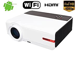 FR S87A 1080P Native Résolution Full HD 5000 Lumen 10000: 1 Home cinéma Cinema Android TV HDMI 1920 x 1080 Native LCD LED Projecteur Projecteur Home Cinéma 1080p HD Android Wifi 300