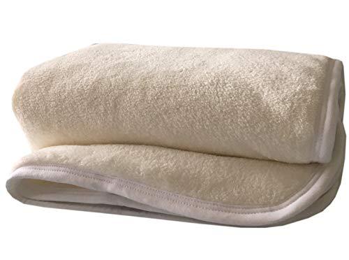 Coprimaterasso Per Lettino in Pile per Maggiore Comfort e Calore nel lettino| 120 x 60 cm | Vello Traspirante e Rovescio in Imbottitura di Qualità Con Cinghie sui Bordi - Fatto in Portogallo
