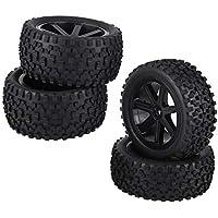 VGEBY1 4pcs RC Racing Tyre, 1/10 RC Tire Wheel Tire Rubber Tire para ZD Racing Buggy Car(Negro)