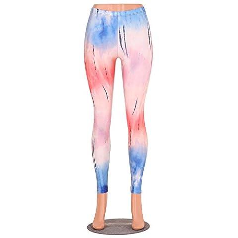 Frauen Einfache Design Leggings Tinte Malerei Streetwear Hosen Capris M