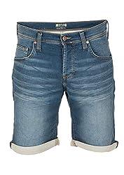 MUSTANG Herren Jeans Short Chicago - Blau - Denim Blue, Größe:W 31, Farbe:Denim Blue (883)