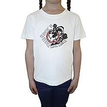 True Guitar Hero Weiß Baumwolle Mädchen Kinder T-Shirt Rundhals Kurzarm White Girls Kids T-shirt