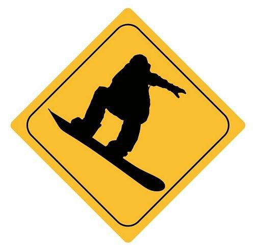 Autoaufkleber Sticker Achtung Snowboarder Aufkleber