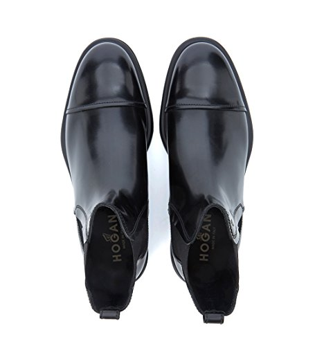 Hogan Chelsea Nero in Nera Pelle Beatle Route H304 New Fqnw7OaF