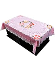 Kuber Industries Cotton 4 Seater Centre Table Cover - Pink