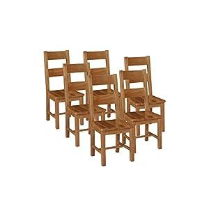 41VvkB8nVWL. SS300  - Elegant Oak Otago Chair Seat, Wood, Light Brown, Large, Set of 6