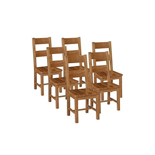 41VvkB8nVWL. SS500  - Elegant Oak Otago Chair Seat, Wood, Light Brown, Large, Set of 6