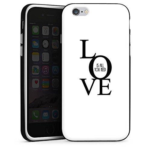 Apple iPhone X Silikon Hülle Case Schutzhülle Love Liebe Sprüche Silikon Case schwarz / weiß