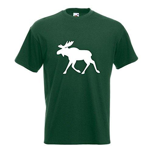 KIWISTAR - Elch / Schweden T-Shirt in 15 verschiedenen Farben - Herren Funshirt bedruckt Design Sprüche Spruch Motive Oberteil Baumwolle Print Größe S M L XL XXL Flaschengruen
