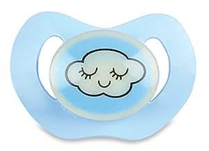 Dodie-Sucette Physiologique Silicone Phosphorescente Nuit - Dodie 0-6 Mois - Bleu nuage N39